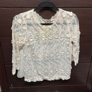 Small Forever 21 Contemporary Lace Shirt